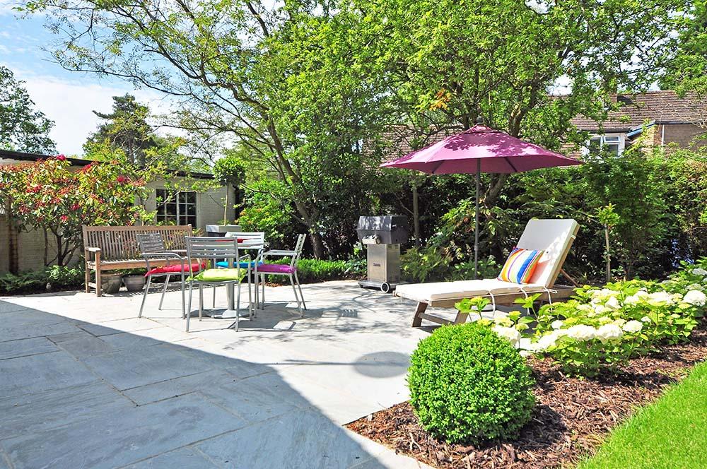 Clean backyard patio